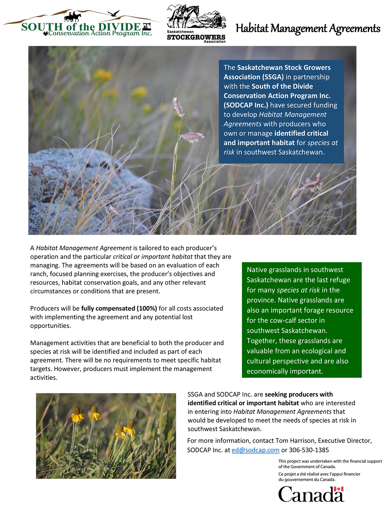 Habitat Management Agreement